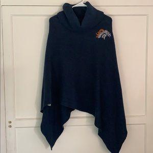 Denver Broncos Crystal Knit Poncho